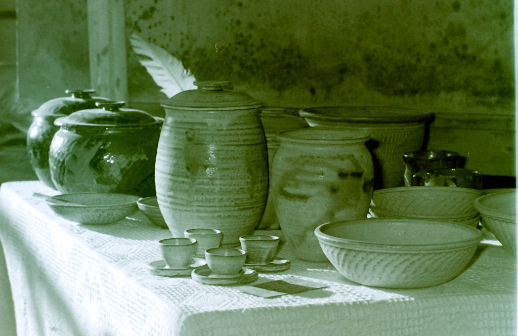 Pots and items made at the Farm